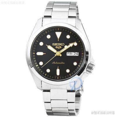 【柒號本舖】SEIKO 精工次世代5號機械鋼帶腕錶-黑 # SRPE57K1
