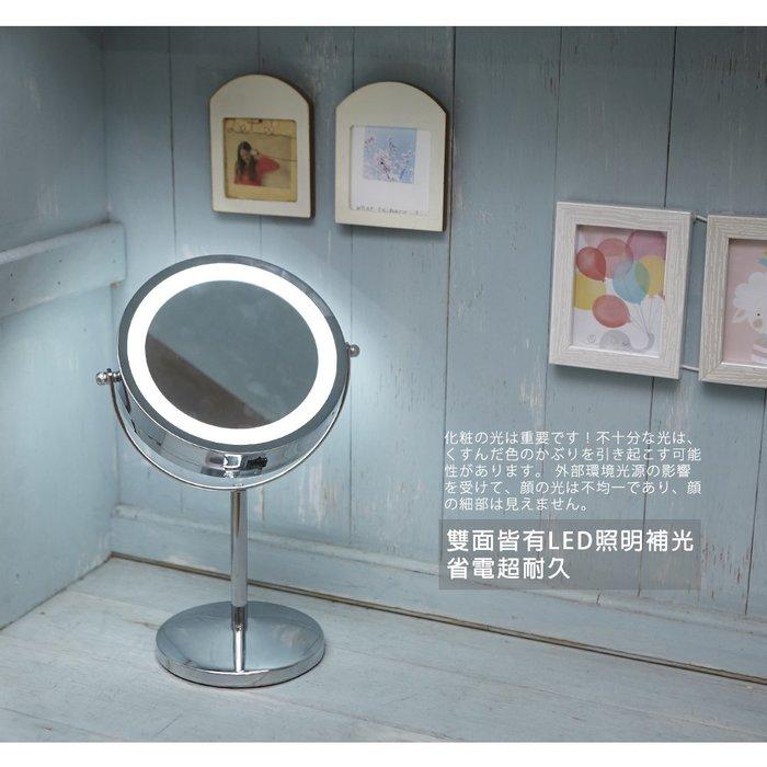 [Tidy house]LED10倍放大雙面鏡 化妝鏡 梳妝鏡 美妝鏡 粉刺瑕疵痘疤一網打盡 (超取限1入)
