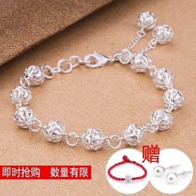 925純銀手鍊女日韓簡約流行玲瓏手鍊女士飾品送閨蜜朋友生日禮物