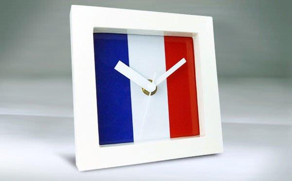 【衝浪小胖】法國國旗/木框桌鐘/掛鐘/機芯/指針/France/各國旗款式都有賣/手工製造