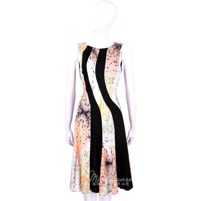 米蘭廣場 CLASS roberto cavalli 黑粉拼色印花無袖洋裝 1520546-05