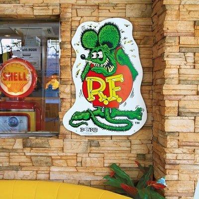 (I LOVE樂多)RAT FINK Big Signboard老鼠芬克手繪大招牌 個性居家自己打造