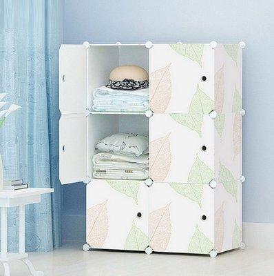 (只能宅配)DIY衣櫃塑料組裝收納箱櫃...