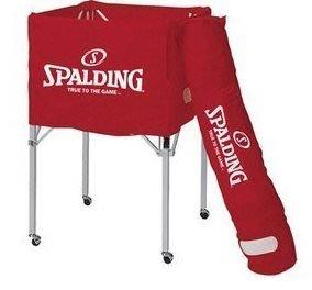 體育課 SPALDING  SPB60004 斯伯丁紅色置球車 校隊 系隊訓練 學校教學體育課置球用