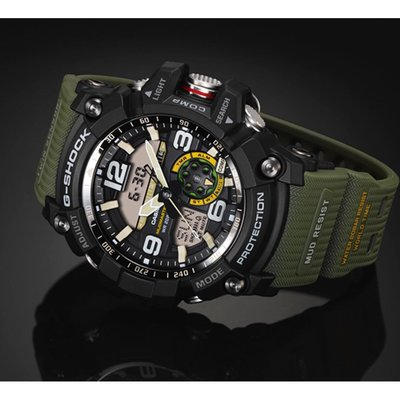 CASIO G-SHOCK MUD resistant GG-1000-1A3 軍綠 指南針 温度計 WR 200-meter GSHOCK GG1000