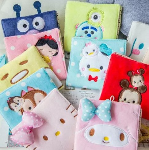 KT貓美樂蒂 可愛韓國卡通大號 衛生棉包 大容量姨媽巾毛絨收納包