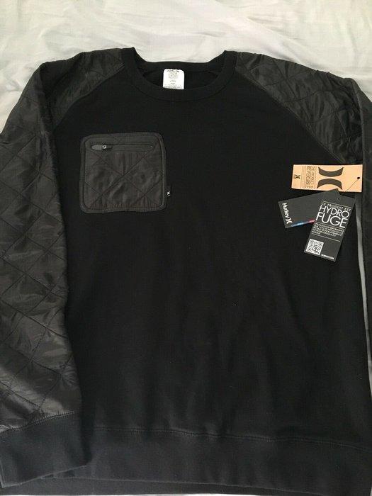 全新 NIKE 頂級 HURLEY  SWEATSHIRT CREW NECK 黑色 SZ XL