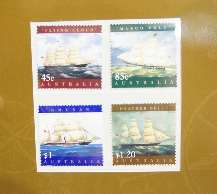 (全新) 澳洲- 古老帆船 -套票護卡