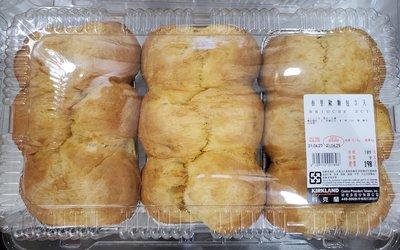 【小如的店】COSTCO好市多代購~布里歐麵包/法國奶油麵包(每盒3入/共1000g)使用奶油.雞蛋.糖製作129710