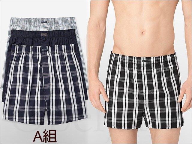真品 Calvin Klein CK卡文克萊寬鬆內褲平口褲四角褲男內著三件一組 S M L 號 愛COACH包包