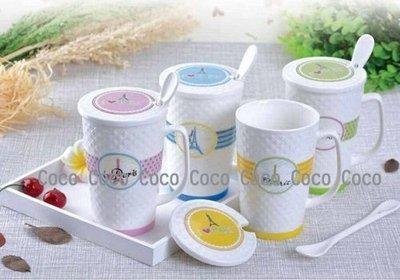 鐵塔浮雕馬克杯組 玻璃瓶 陶瓷杯 【CocoLife】
