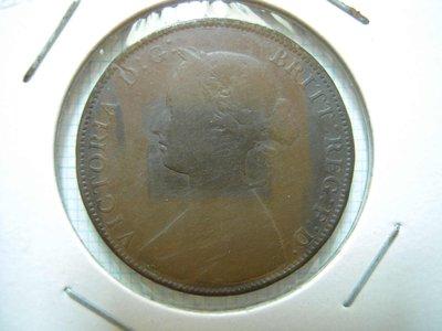 英國.Half Penny.1861年