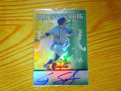 Cory Spangenberg 2011 Leaf Valiant Green Autograph 綠亮新人簽名 RC