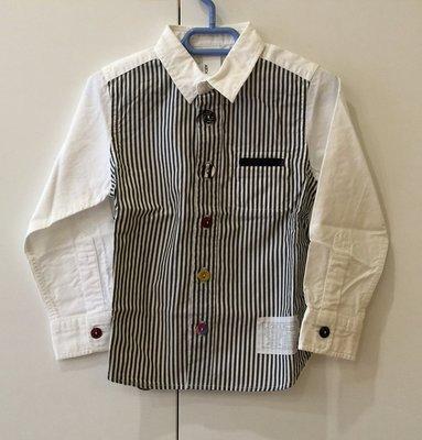日本設計師童裝品牌 Arch & Line 男童條紋長袖襯衫(白色&藍條紋)-日本製 clearance sale