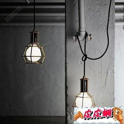 618大促倉庫小鐵架單頭吊燈具復古工業風創意過道防爆工礦燈罩吊燈【皮皮蝦】