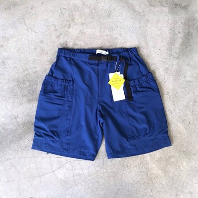 【 WEARCOME 】RAGEBLUE POLYESTER TROPICAL 戶外風格 大口袋短褲 衝浪褲/藍