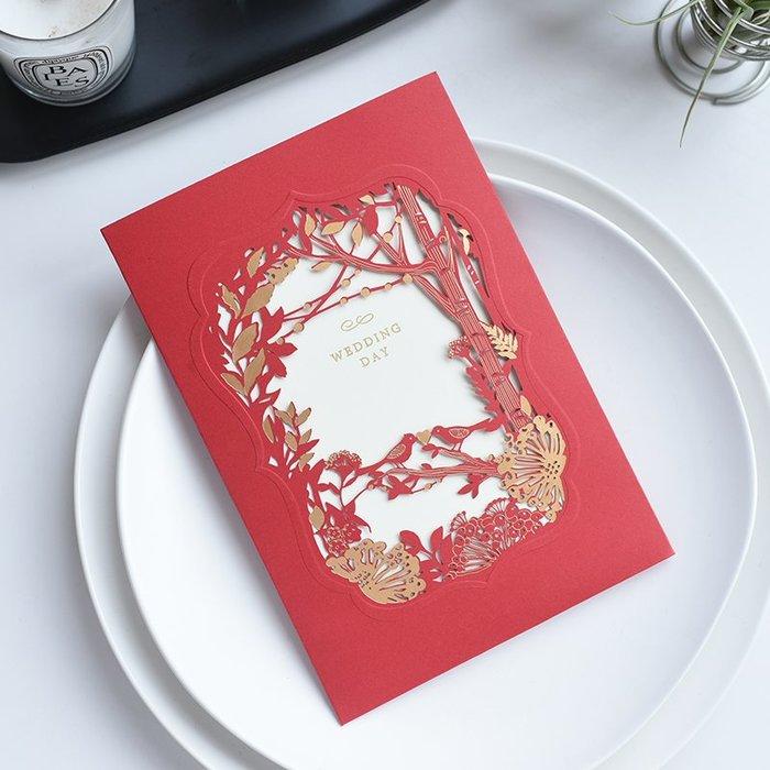 衣萊時尚-熱賣款  請柬結婚創意請帖喜帖中式婚禮婚慶用品邀請函XD-3