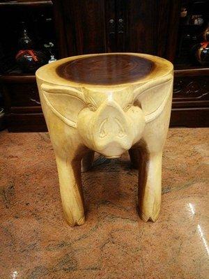 《台南寶麗古典傢具藝品館》~諸事如意~造型柚木椅~長35寬32高39公分