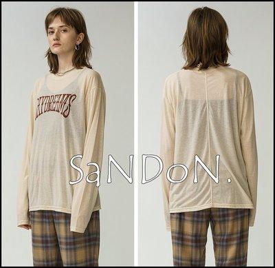 SaNDoN x『MOUSSY』秋季新品 透視感字母薄棉長袖TEE SLY 200922