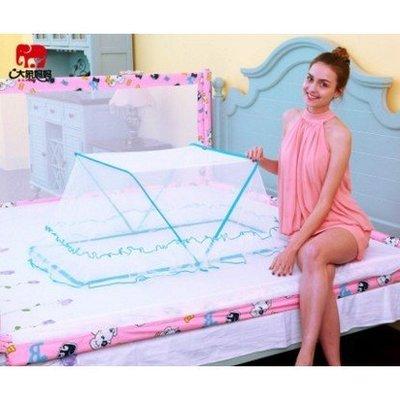 嬰兒蚊帳罩 無底旋開式 快速折疊 嬰兒床bb寶寶蚊帳落地