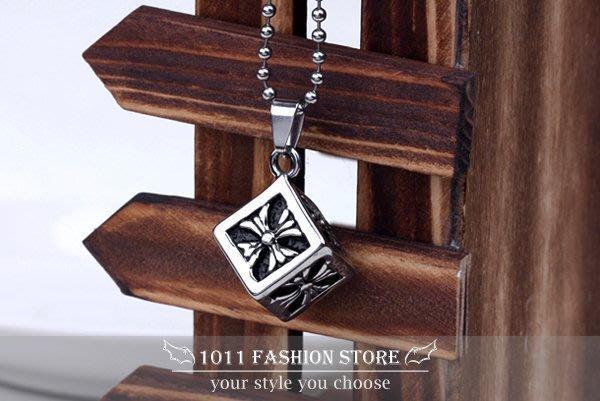 韓國 西德鋼 / 鈦鋼 方塊 古羅馬 十字架 項鍊 男性項鍊 女性項鍊 BH011905 not tiffany