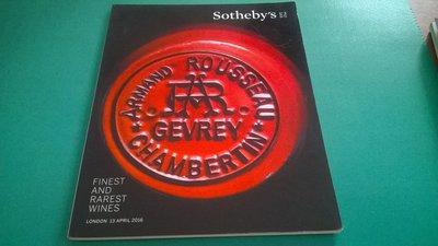 大熊舊書坊- Sotheby's EST.1744 FINST AND RAREST WINES -5@