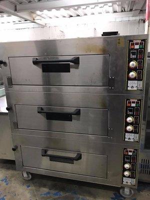 【民權食品機械】二手九成新翔偉三層六盤烤箱