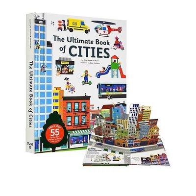 The Ultimate Book of Cities 精裝 城市 立體機關操作書 科普百科翻翻書 STEM啓蒙科普繪本 l Twirl 法國藝術品