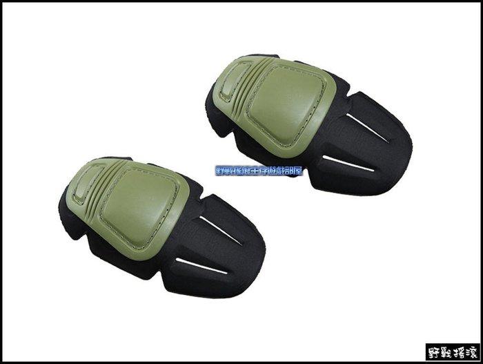 【野戰搖滾-生存遊戲】CP GEN3 內置式護膝組【軍綠色】青蛙裝戰術護具迷彩褲護膝戰術褲迷彩服