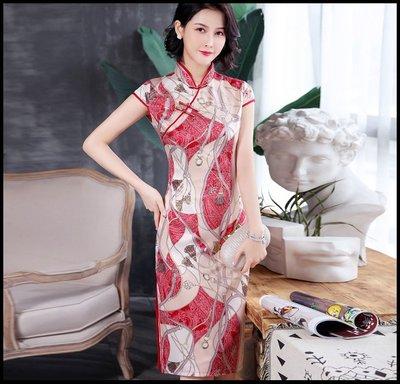 【Fashion歐洲站】老上海 春季改良版復古中國風旗袍氣質優雅連衣裙大碼日常旗袍