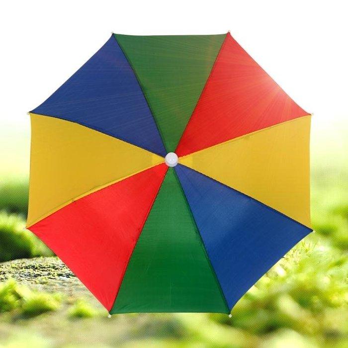 戶外兒童成人傘帽頭戴帽傘鬆緊帶晴雨傘防曬防風釣魚傘玩具折疊傘