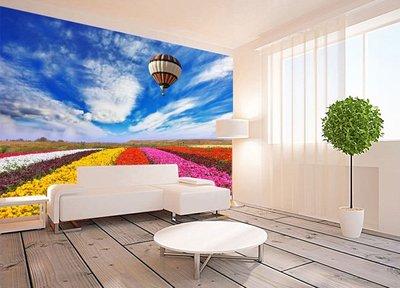 客製化壁貼 店面保障 編號F-757 熱氣球花海 壁紙 牆貼 牆紙 壁畫 背景牆 星瑞 shing ruei