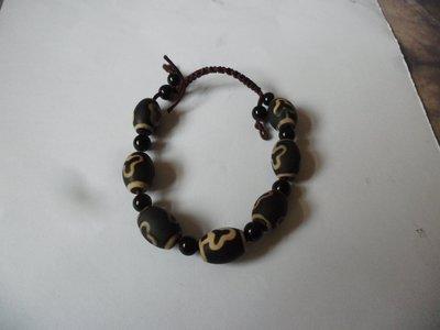紫色小館-59-------天珠手鍊.老件