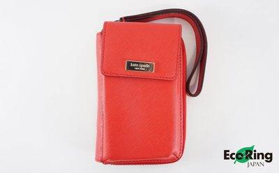 [EcoRing]*Kate Spade Short Wallet Leather Red*RankAB -197025172-