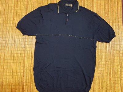 (抓抓二手服飾)  HIGH CLASS MEN  休閒衫  深藍色  3XL  (G51)