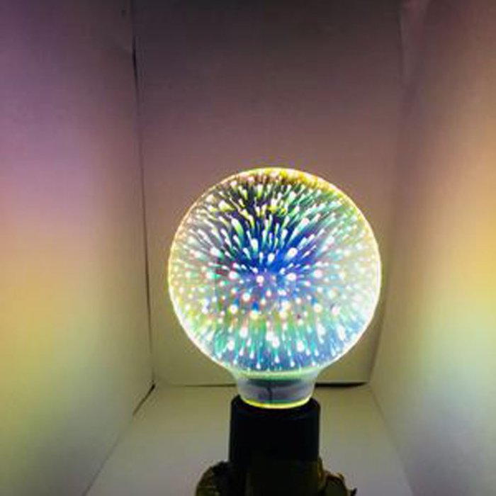 5Cgo【代購】設計師聖誕樹氣氛小夜店LED創意煙花烟火流星燈泡 G95七彩立體藝術E27 3D十種造型 另十款燈座含稅