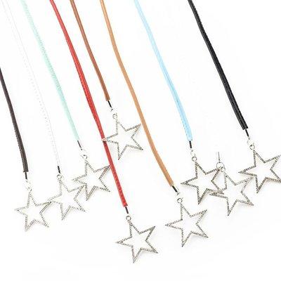 腰繩皮帶 素色 金屬 星星 鑲鑽 掛墜 綁帶 百搭 腰繩 腰帶【FJY-XX】