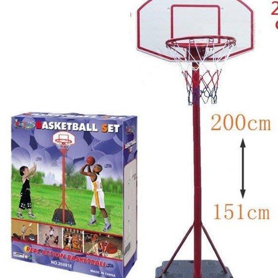 大號鐵管籃球架 ~可升降兒童籃球架 /籃框高度200公分~室內外籃球架~童心玩具1館