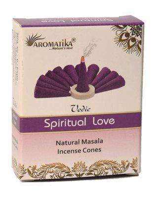 [綺異館] 印度香 心靈之愛塔香 10入 /盒 放鬆 沈思 vedic spiritual love cone
