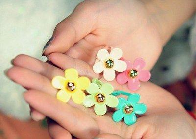 戒指 花 介指 女 韓國 現貨 daisy flower ring womens girls 日本 可調較SIZE 原宿 飾品 多色 雛菊 包郵 E101