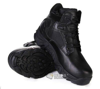 【翔準軍品AOG】特戰 黑色 戰鬥鞋- 軍鞋 野戰鞋 作戰靴 - 側拉式拉鍊 長靴、沙漠靴、登山靴