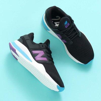 【豬豬老闆】NEW BALANCE 247 2.0 黑色 紫藍 復古慢跑 襪套 輕量 透氣 女鞋 WS247FF