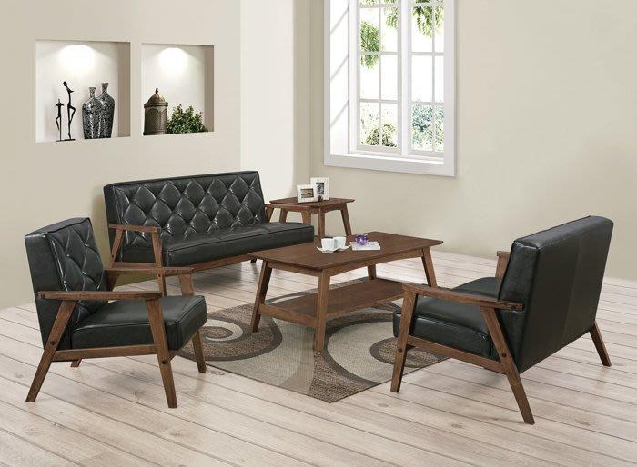 【DH】商品貨號N697-1商品名稱《剛綸》胡桃黑皮1.2.3沙發組/不含大小茶几。可拆賣。日風格優質細膩主要地區免運費