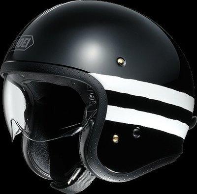 《鼎鴻》SHOEI 半罩式3/4復古潮流帽 J・O SEQUEL TC-5 黑/白