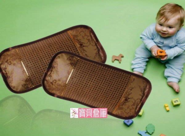 寶貝倉庫~咖啡色亞草涼枕~嬰兒涼枕~兒童草席枕~寶寶涼枕~雙面可用