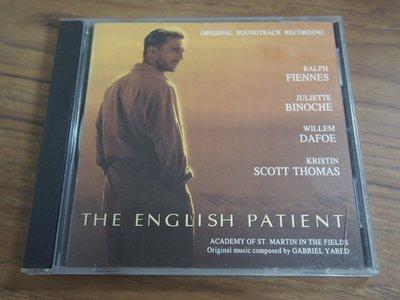 ◎MWM◎【二手CD】The English Patient 英倫情人 電影原聲帶 有細紋