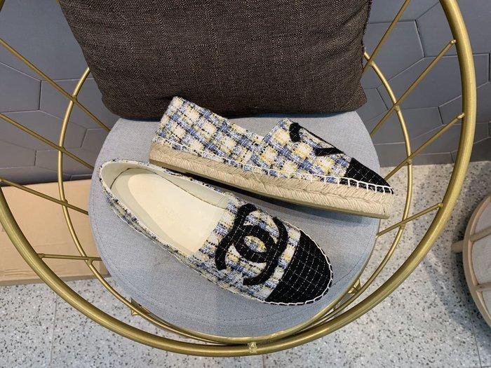 Chan*小香家 麻繩編織平底鞋樂福鞋 草編鞋 漁夫鞋  休閒帆布鞋34-42碼~妖精館