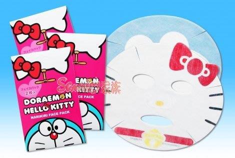 《東京家族》HELLO KITTY 小叮噹聯名保濕美白面膜2片裝(含KITTY*1 小叮噹*1 )