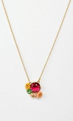 英國購入 Les Nereides cite imaginair 小城印象系列 清新露珠粉紅花園項鍊 全新 現貨