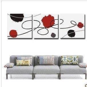 【優上精品】抽象無框畫 現代家客廳裝飾畫玄關掛畫壁畫 餐廳三聯畫(Z-P3229)